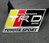 Cheap NEW Car Auto Tune Up Racing Sports Alloy Badge Emblems Stickers Decals For TRD