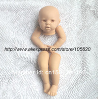 """Cheap Wholesale-OP-Reborn Baby doll kit Silicone Vinyl head ,3 4 arms and legs for 20-22"""" baby dolls lifelike doll parts not ready baby"""