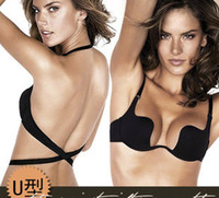 Wholesale Deep U Low Cut Push Up And Backless Invisible Convertible Bra That Is For Backless Cloth Very Comfortable and Functionality