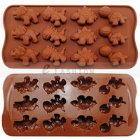 Wholesale Lovely New Style Modelling Dinosaur Cake Tools Chocolate Manufacture Silicone Molds