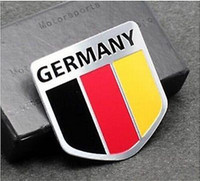 Cheap Metal Auto Racing Sports Emblem Badge Decal Sticker For Germany Deutschland Flag