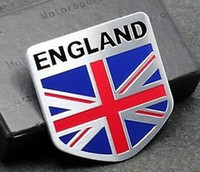 Cheap Metal Auto Racing Sports Emblem Badge Decal Sticker For UK United Kingdom Flag
