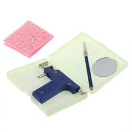 Wholesale 1set Professional Steel Ear Nose Navel Body Piercing Gun Studs Tool Kit Set