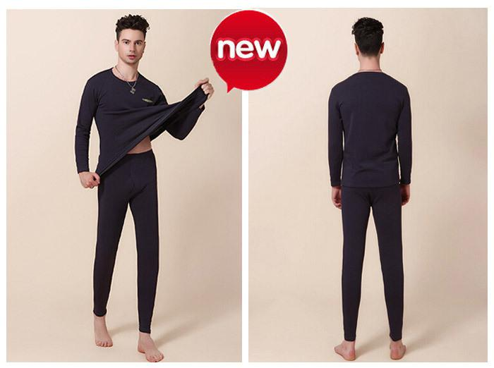 2017 New Thermal Underwear Set L Xxxl Long Johns Men Black Brown ...