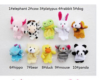 Cheap 2014 Fashion 400pcs lot Finger Puppets Tell Story Props(10 animal group)Animal Doll Kids Toys Children Gift Free Shipping