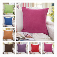 Wholesale Factory Supply cm Colors Creativity Pure Color Cushion Cover Sofa Chair Cotton Linen Pillow Cases