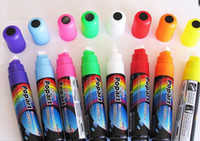 Plastic led writing board - DHL FEDEX Free ship sets mm TIP Highlighter Fluorescent Liquid Chalk Marker Pen for LED Writing Board