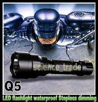 Wholesale Flash Light LED Flashlight LM CREE Q5 LED Camping Flashlight waterproof flashlights