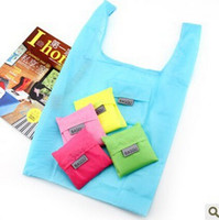 big lunch bags - Baggu tote bags candy colors reusable shopping bag Portable folding pouch lunch bag purse handbag big