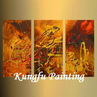 Wholesale 3 Handmade unframed good quality panel paintings modern abstract oil painting on canvas art