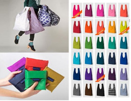 Wholesale BAGGU tote bags candy colors reusable shopping bag Portable folding pouch lunch bag purse handbag colors Christmas gifts EMS FREE