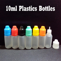 Wholesale Dropper Bottle ml Plastic Bottle With Childproof Colorful Caps and Long Thin Tips Empty Dropper Bottles Factory