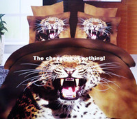 Cheap 3D Oil painting leopard print bedding,4pc bedding clothes without filler,queen size leopard bedspreads,animal leopard bed linen
