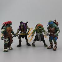 Wholesale TMNT Teenage Mutant Ninja Turtles PVC Action Figure Collection Model Toys Classic Toys Christmas Gift set