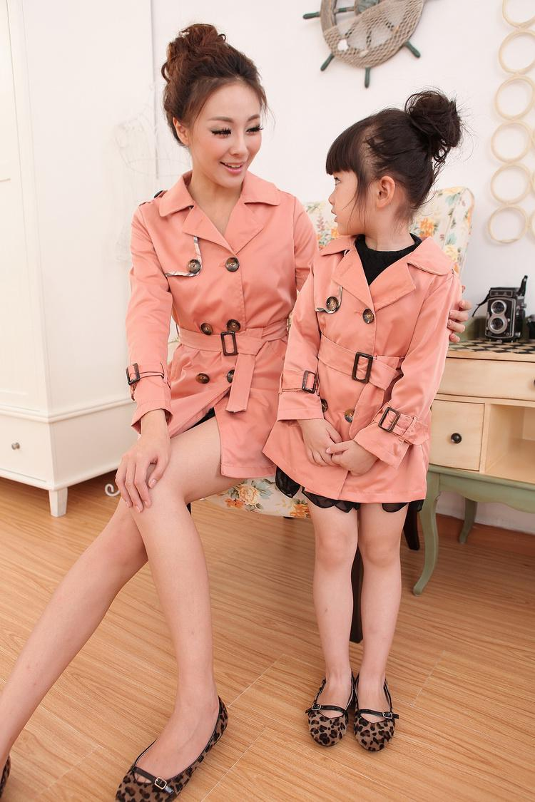 england style matching clothes for mother and daughter 2014 slim plus