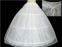Wholesale Cheapest In Stock Ball Gown Bone Full Crinoline Bridal Hoop Lace bottom Petticoats For Wedding Dress Wedding Skirt Accessories