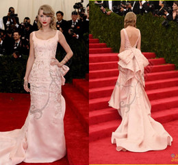 Wholesale Hot Selling Taylor Swift Sheath Annual Screen Actors Red Carpet Celebrity Dresses Evening Gown