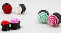 Wholesale Hot Sale Sizes New Ear Piercing Acrylic Rose Design Body Jewelry Ear Plugs