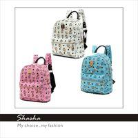 Wholesale 2014 Korean brand designer MCM backpack women fashion mini shoulder bag kids children hot school bags men boys leather backpacks AXB00066