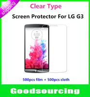 Clear protective film - Guard Film For G3 Clear Protective Film Screen Protector For LG G3 D855 D851 D850 Without Retail Package
