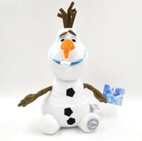 Wholesale 20pcs OLAF cm Frozen plush toy baby doll action figures snowman snow treasure frozen dolls toys