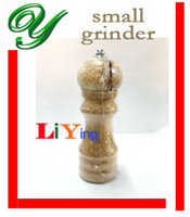 Wholesale 2pcs Manual Wooden Oak Pepper Spice Salt Grinder cm Mill Pepper Spice Herb Cruet Mills Condiment Grinding Gourmet Shaker Box