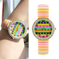 auto jewelry - Fashion Round Digital Wrist Watch For Women High Quality Candy Color Rubber Wristband