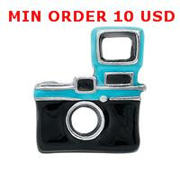 Cheap CAMERA floating charms for magnetic glass memory living locket