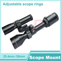 Guangdong,China(Mainland) airsoft pistol - High quality mm mm Adjustable scope rings weaver scope mount for Rifle Pistol Airsoft with weaver rail HT2