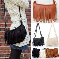 fringe bags - 2014 Brand New Women tassels Fringe Faux Suede Shoulder Messenger Crossbody Bag Handbag Purse CA05060