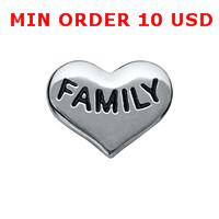 Wholesale FAMILY HEART floating charms for memory locket