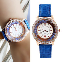 Wholesale Fashion Designer Multicolor PU Leather Wristband Digital Wrist Watch Summer For Women