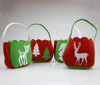 Wholesale Christmas Supplies Elk Christmas Tree Gift Wrap Candy Bag Bags Red Green Types Portable Nonwoven