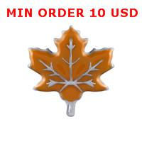 Cheap Charms ORANGE LEAF charms Best for locket mixed orange leaf
