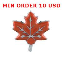 Cheap RED LEAF charms Best red leaf