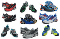 Wholesale 2014 New Salomon GCS Athletic Trail Running Shoes Mens Hiking Shoes Outdoor Walking Shoe Cheap Sneakers Hot Sale Solomon