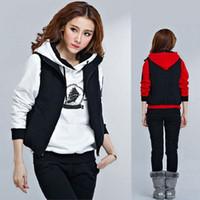 Cheap 2014 new fashion sweatshirt women hoody sport suit women hoodies letter 3 piece tops + pants women coat casual jacket SSYN 6616
