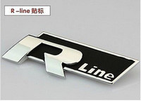Personalized Sticker Whole Body  Metal Auto Refitting Racing Decals Badge Emblems Stickers For VW R-line Black