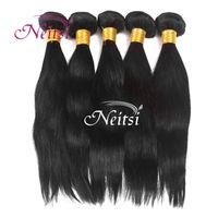 Wholesale 6A Indian Brazilian Malaysian Cambodian g pc Unprecessed Virgin Human Hair Straight Brazilian Hair Bundles Remy Hair Extensions