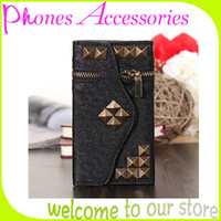 For Apple iPhone PU White Wholesale PU Leather Covers for Iphone Cases for Apple iphone 4 4s 5 5s 5 wallet Bag With OPP Package Hot Sale Products 5PCS Lot
