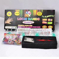 Unisex 5-7 Years Multicolor 2014 Hot Popular Rainbow Kits Rubber Loom Bands Kit DIY Bracelets Colorful Children Toy Gift