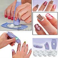 Nail Art Stamping Machine   Free Shipping! New DIY Design Kit Professional Nail Art Express Decals Stamp Stamping Polish Nail Decoration Tools 302-0105