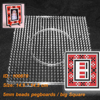 Wholesale 100870 PegBoards for mm Perler Beads Hama Beads Fused Beads Clear Linkable Large Peg board