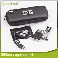Cheap Double eGo CE4 kits Best Black Metal ego ce4 cigarette kits