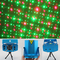 Wholesale 48pcs dj light DISCO Laser Stage Lighting XMAS mW V Red Green Moving Party Mini Lighting Projector with Tripod Patterns