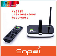 Quad Core Included 1080P (Full-HD) CS918S Andriod TV Box Quad Core 2GB RAM 16GB ROM Built in 5.0MP Camera XBMC media player Bluetooth WIFI Android Smart TV Box