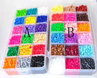 Wholesale New Perler Beads mm colors with Storage Box DIY gift hama beads craft learning education toy kids toys