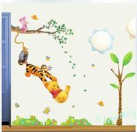 winnie the pooh - Winnie the Pooh Swing Tree Wall Sticker Decals Home Decor Kids Nursery PVC DH