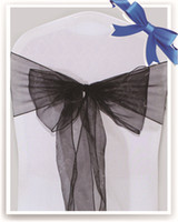 Wholesale Black Organza Chair Sashes for Wedding