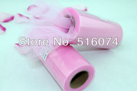 Wholesale Brand New Pink Tulle Roll Spool quot x25YD Tutu Wedding Party Gift Bow Craft Banquet Decoration Favor